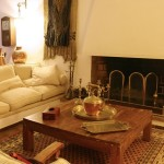 Loung with feature fireplace