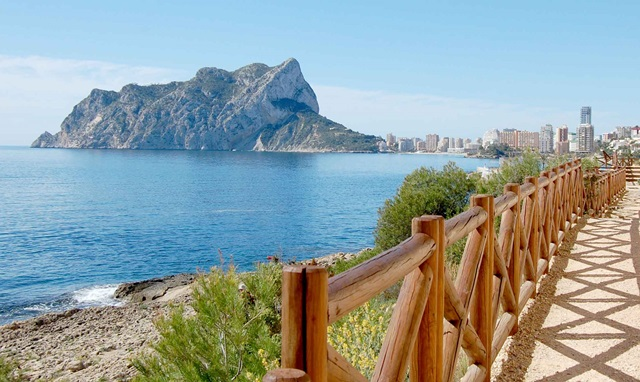 View to the Ifach de Calpe